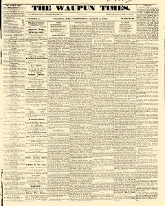 Waupun Times, August 04, 1858, Page 1