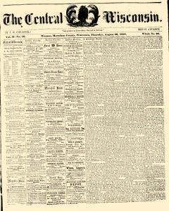 Wausau Central Wisconsin, August 26, 1858, Page 1