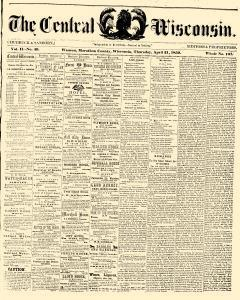 Wausau Central Wisconsin, April 21, 1859, Page 1