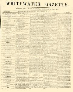 Whitewater Gazette, August 28, 1856, Page 1