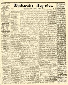 Whitewater Register, June 20, 1857, Page 1