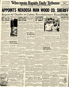 Wisconsin Rapids Daily Tribune, August 13, 1931, Page 1