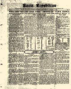 Basin Republican, August 09, 1905, Page 1