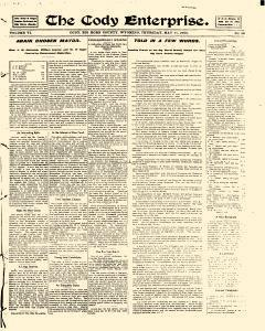 Cody Enterprise, May 11, 1905, Page 1