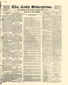 Cody Enterprise, May 18, 1905, Page 1
