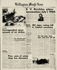 Wellington Daily News Newspaper Archives, Aug 6, 1965