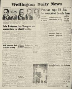 Wellington Daily News Newspaper Archives, Aug 8, 1962