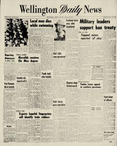 Wellington Daily News Newspaper Archives, Aug 19, 1963