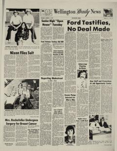 Wellington Daily News Newspaper Archives, Oct 17, 1974