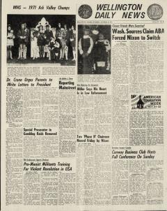Wellington Daily News Newspaper Archives, Oct 23, 1971