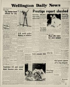 Wellington Daily News Newspaper Archives, Oct 26, 1960