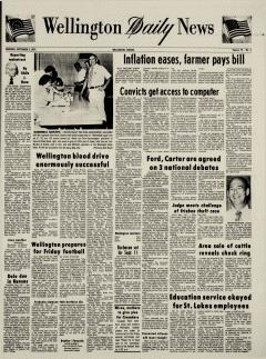 Wellington Daily News Newspaper Archives, Sep 2, 1976