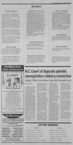 Wilson Times Newspaper Archives Feb 24 2014 P 4
